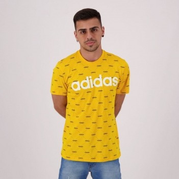 Camiseta Adidas Linear Graphic Amarela