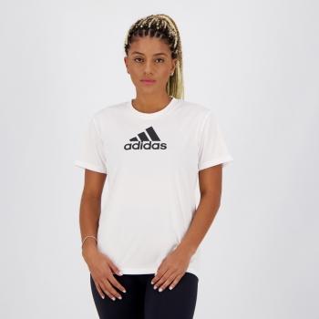 Camiseta Adidas Logo Feminina Branca