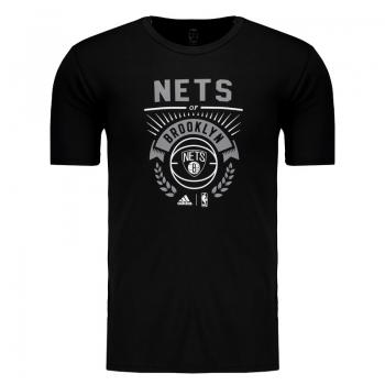 Camiseta Adidas NBA Brooklyn Nets Preta