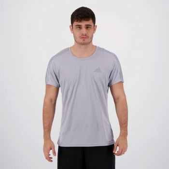 Camiseta Adidas Own The Run II Cinza
