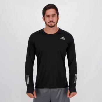 Camiseta Adidas Own The Run Manga Longa Preta