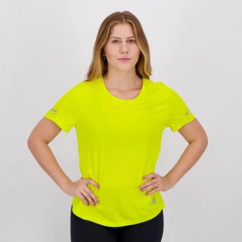Camiseta Adidas Run It Feminina Amarela