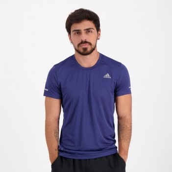 Camiseta Adidas Run It Tee Marinho