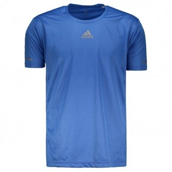 Camiseta Adidas Sequencials Azul e Prata