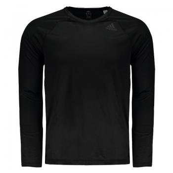Camiseta Adidas Training D2m Manga Longa Preta