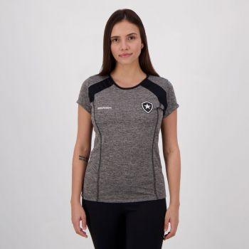 Camiseta Botafogo Cab Feminina Cinza mescla