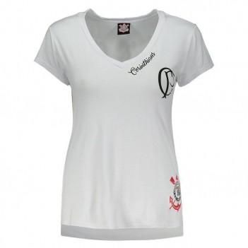 Camiseta Corinthians Agnes Feminina Branca