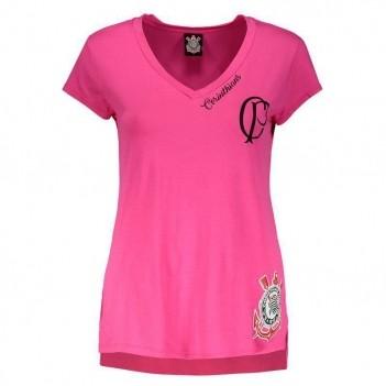 Camiseta Corinthians Agnes Feminina Rosa