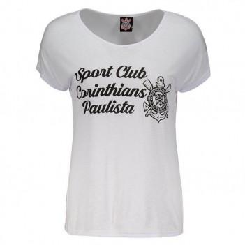 Camiseta Corinthians Anne Feminina Branca