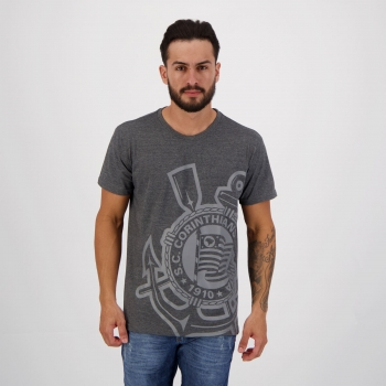 Camiseta Corinthians Light Side Grafite Mescla