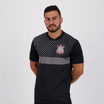 Camiseta Corinthians Peter Preta e Cinza