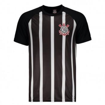 Camisa Corinthians Raglan Preta