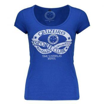 Camiseta Cruzeiro Baby Look Feminina