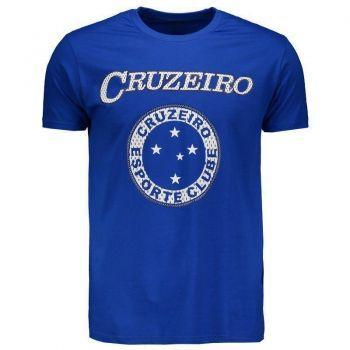Camiseta Cruzeiro Com Costura Royal