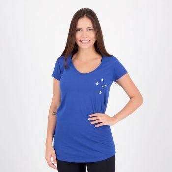 Camiseta Cruzeiro Feminina Azul