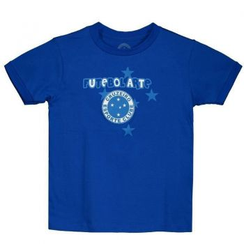 Camiseta Cruzeiro Futebol Arte Infantil