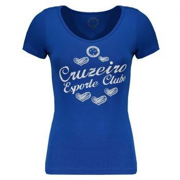 Camiseta Cruzeiro Heart Shadow Feminina