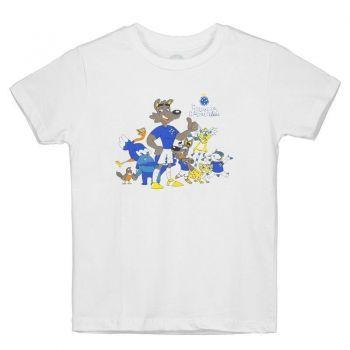 Camiseta Cruzeiro Raposão e Raposinha Infantil Branca