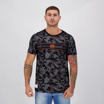 Camiseta Ecko Basic Camouflage Preta