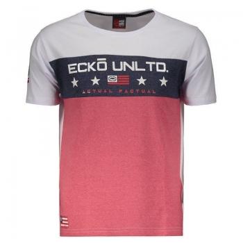 Camiseta Ecko Especial Branca e Vermelha