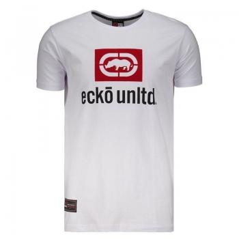 Camiseta Ecko Branca e Vermelha