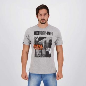 Camiseta Fatal Endless IV Cinza Mescla