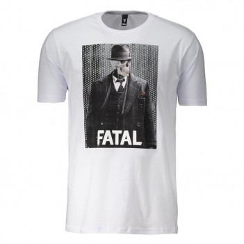 Camiseta Fatal Business Estampada Branca