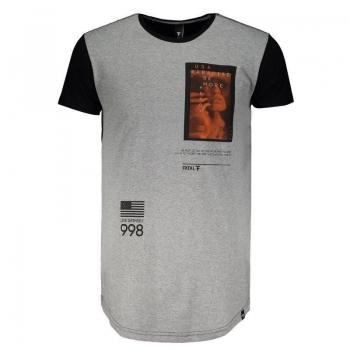 Camiseta Fatal Estampada Cinza Mescla