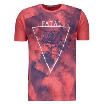 Camiseta Fatal Estampada Coral Mescla