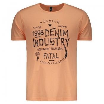Camiseta Fatal Estampada Salmão