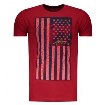 Camiseta Fatal Vermelha e Marinho