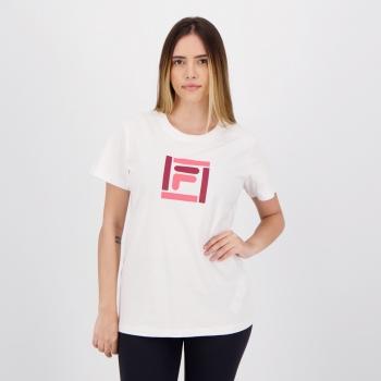 Camiseta Fila Box Color Feminina Branca