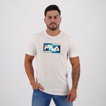 Camiseta Fila Court Especial Branca Mescla
