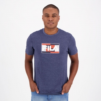 Camiseta Fila Court Marinho Mescla