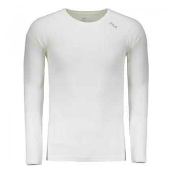 Camiseta Fila Cross Manga Longa Branca