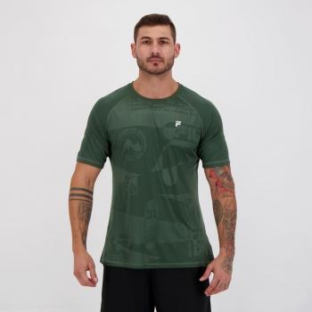 Camiseta Fila Prime II Verde e Prata