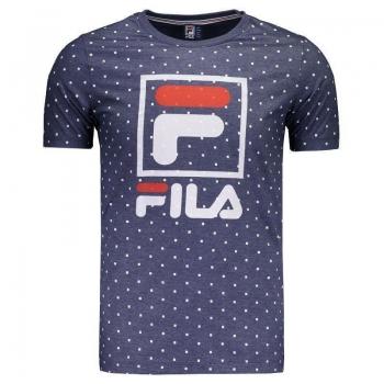 Camiseta Fila Square Azul Mescla