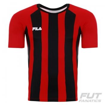 Camisa Fila Winner Vermelha e Preta