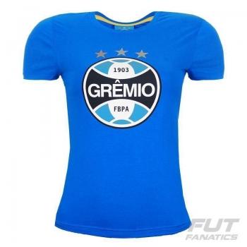 Camiseta Grêmio Escudo Feminina Azul