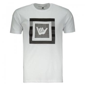 Camiseta Hang Loose Estampada Logo Branca