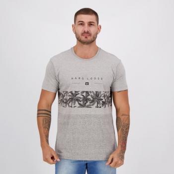 Camiseta Hang Loose Palmcore Cinza Mescla