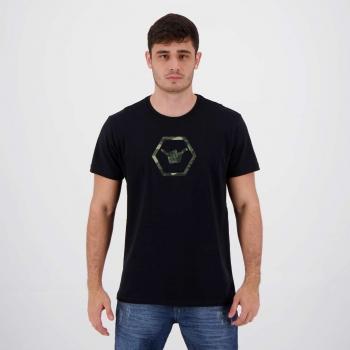 Camiseta Hang Loose Silk Camo Preta