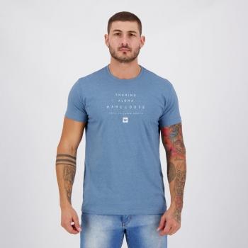 Camiseta Hang Loose Silk Lettering Azul Mescla
