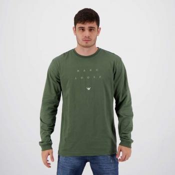 Camiseta Hang Loose Silk Mood Manga Longa Verde