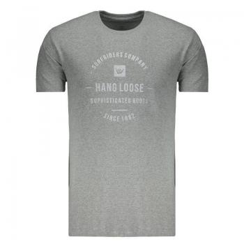 Camiseta Hang Loose Since Cinza Mescla