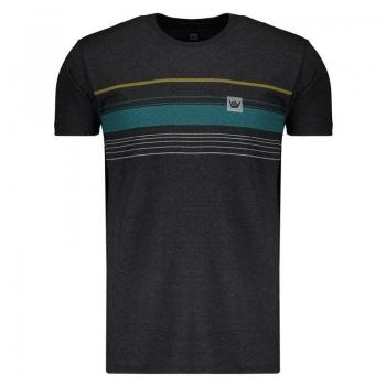 Camiseta Hang Loose Striped Grafite Mescla