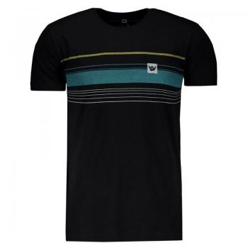 Camiseta Hang Loose Striped Preto