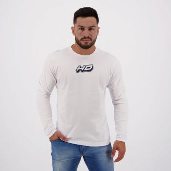 Camiseta HD Fashion Basic Manga Longa Branca