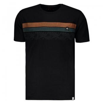 Camiseta Hd Ornament Strip Preta