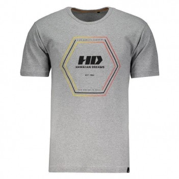 Camiseta Hd Outline Gradie Cinza Mescla